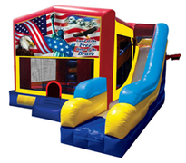 American Land Of The Free Bounce House Combo 7n1