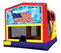 4n1 American Flag Bounce House Combo
