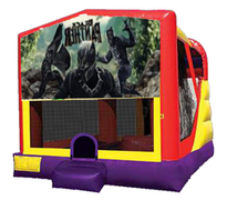 4n1 Black Panther Bounce House Combo