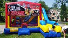 Blackhawks Bounce House Combo 7n1