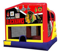 4n1 Black Hawks Bounce House Combo