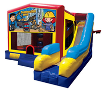Construction Bounce House Combo 7n1