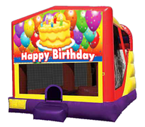 4n1 Happy Birthday Bounce House Combo Banner #2