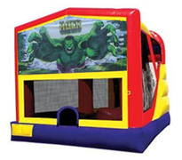 4n1 Incredible Hulk Bounce House Combo