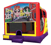 4n1 Power Puff Girls Bounce House Combo