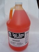 Sno-Cone Gallon Orange