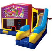 Sports Girls Bounce House Combo 7n1