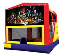 4n1 Star Wars Bounce House Combo