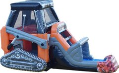 Skid Loader Bounce Water Slide Combo