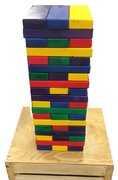 Giant Jenga Rainbow Colored Game