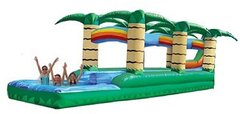 34ft. Long 2 Lane Tropical Slip-n-Slide w/ Splash Pool