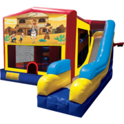 Western Bounce House Combo 7n1