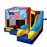 American Flag Bounce House Combo 7n1