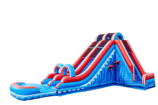 Turbo Double Lane Slide with Pool M003