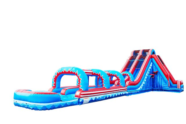Turbo Double Lane Slide with Slip & Slide