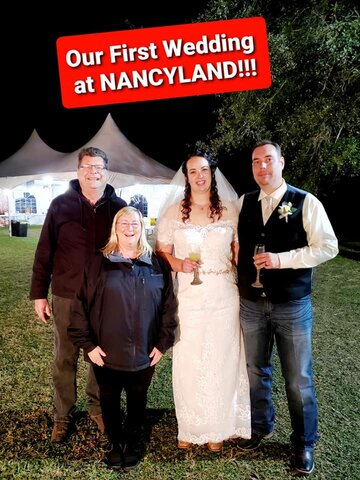 Weddings at Nancyland includes Tent, tables and chairs