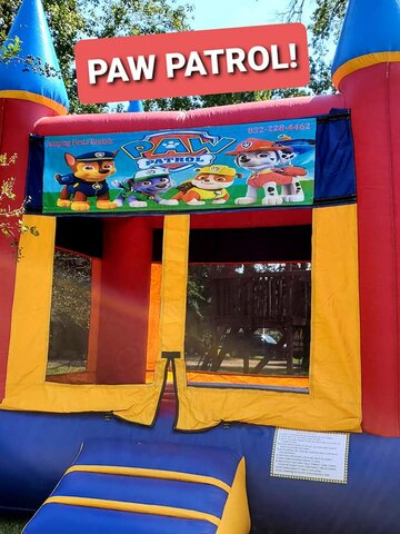 012 Bounce Castle with Banners of Happy Birthday, Halloween, Christmas, Princess, Frozen, Hello Kitty, Sophia, Super Heroes, Spiderman, Batman, Cars & Ninja Turles)