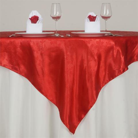 Red Satin Overlay