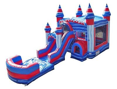 Flash Combo Castle with Slide and Pool