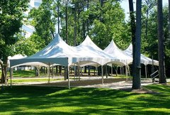 004 Tent 20 x 40 High Peak Frame, set up grass or concrete