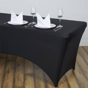 Black Spandex Eight Foot tablecloth