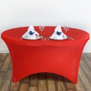 Red Round Spandex tablecloth