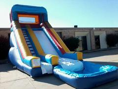 004 New Water Slide 25 feet tall with pool