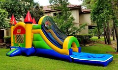023 New Combo Castle Water Slide Purple with pool