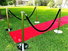 Stanchions with black rope (pair of two)