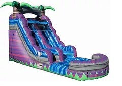 16'H PURPLE TROPICS SLIDE W/POOL