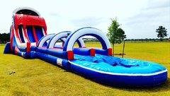 024 New Holiday Double Lane Water Slide with Slip & Slide