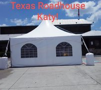 Tent 20 x 20, 25 chairs, three walls, two spot lights, one fan (TRH Katy)