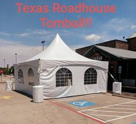 Tent 20 x 20, 30 chairs, three walls, two spot lights, one fan, 4 tables 6 foot (TRH Tomball)