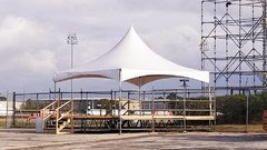 003 Tent 20 x 20 with 4 tables, 40 chairs and four tablecloths