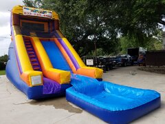 003 New Water Slide 25 feet tall with pool