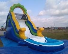 012 Water Slide with pool Bella Seaside Fun 25 feet tall