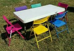 001 Kids table with six kids chairs