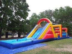 008 Obstacle Course with Water Slide and Pool