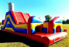 005 Obstacle Course Red & Blue 50 feet long