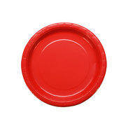 "Paper Plates 7"" assorted colors packages of 24 plates"