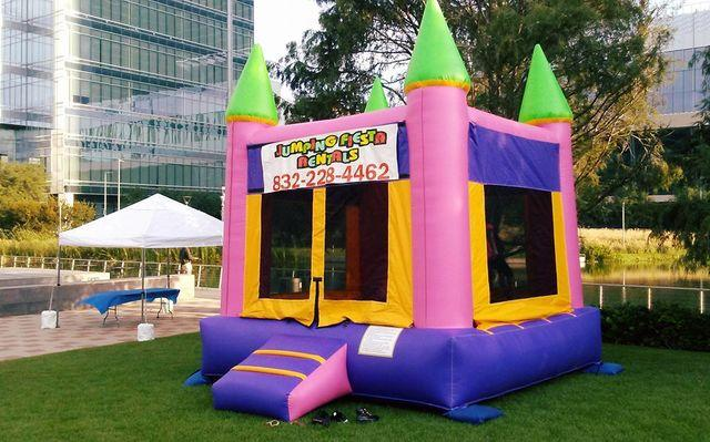 015 New Pink & Purple Bounce House with Banners (Princess, Frozen, Sophia, Hello Kitty, Dora, Paw Patrol, Trolls, Shopkins, Emojis, Alice, Little Pony, Strawberry)