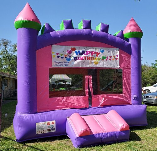 New PINK & PURPLE BOUNCE HOUSE M009
