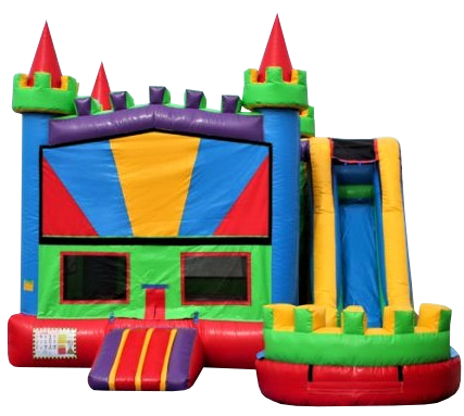 Combo Bounce House and water slide rental Nashville | Jumping Hearts Party Rentals