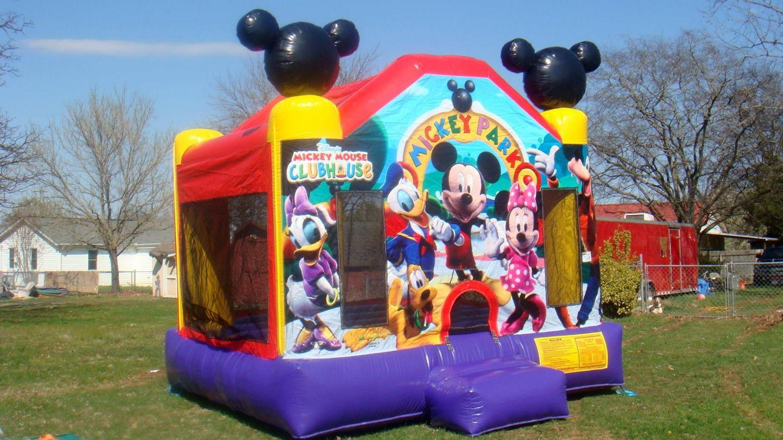 Mickey mouse bounce house for rent Nashville Tn jumping hearts party rentals