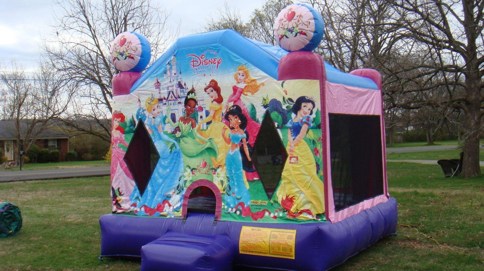 Disney princess bounce house for rent Nashville TN Jumping Hearts ParTy Rentals