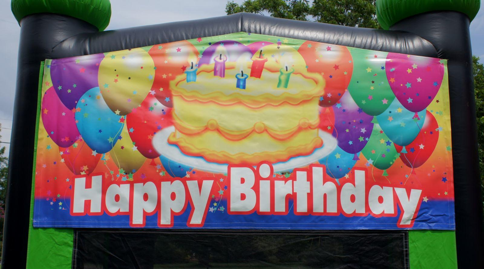 Happy Birthday Bouncy Castle Nashville TN Jumping Hearts Party Rentals