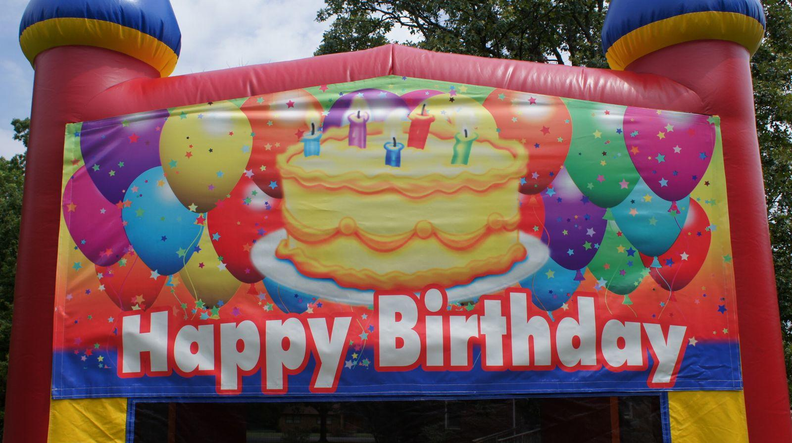 Happy Birthday Bounce House for rent Nashville TN Jumping Hearts Party Rentals