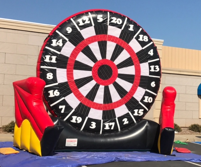 inflatable giant soccer dart game rental Nashville TN