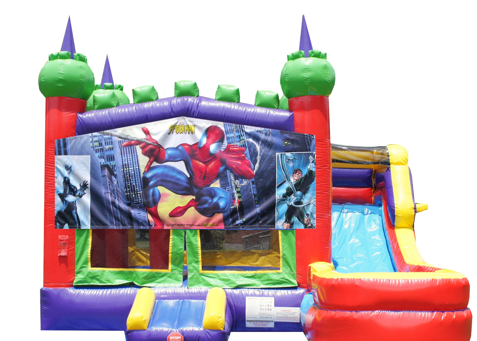 Spiderman Bounce house for rent Nashville TN Jumping Hearts Party Rentals