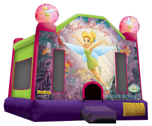 Tinkerbell Bounce House for rent Nashville TN Jumping Hearts Party Rentals